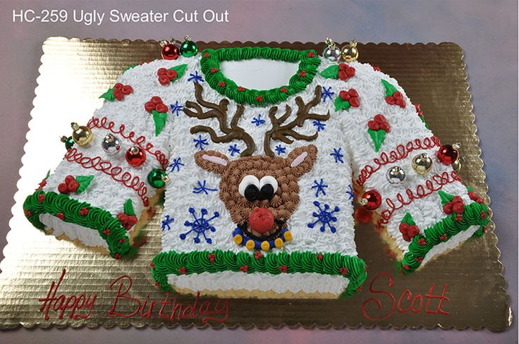 "ugly sweater cake!  Needing ideas for a FUN Ugly Christmas Sweater Party check out ""The How to Party In An Ugly Christmas Sweater"" at Amazon.com"