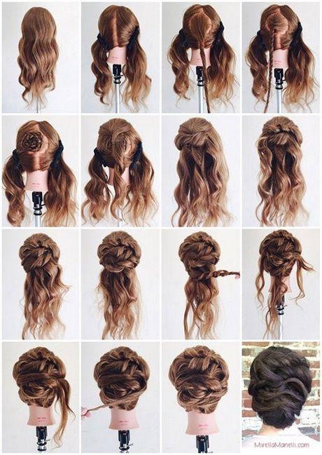 Hochsteckfrisur langes Haar