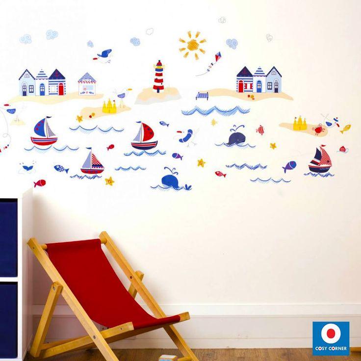Μία υπέροχη συλλογή από 59 διασκεδαστικά και πολύχρωμα αυτοκόλλητα τοίχου για να διακοσμήσετε το παιδικό δωμάτιο με τα χρώματα του καλοκαιριού. 23,90€ https://goo.gl/zhBrwj