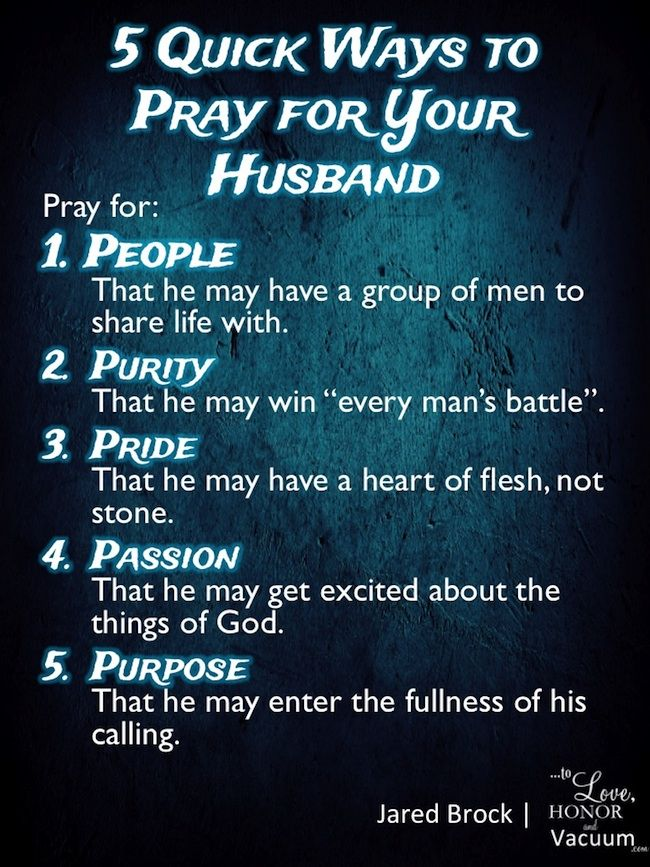 5 Quick Ways to Pray for Your Husband