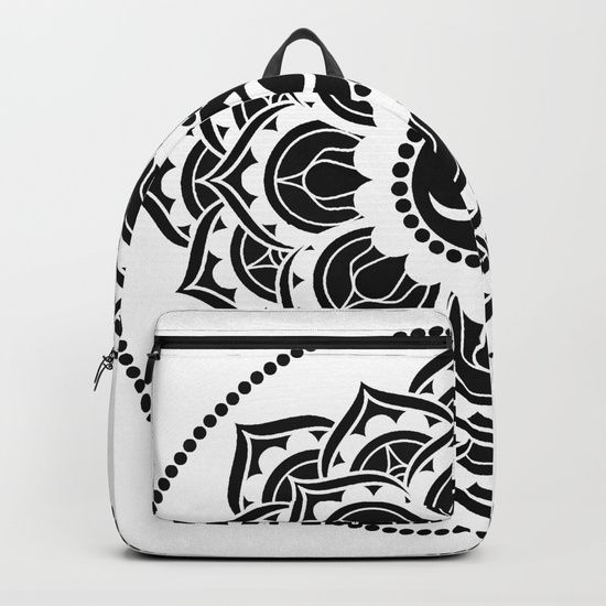 #omg 25% OFF now! #popart #funky #colorful #blackandwhite #funny #colors #yoga #halloween #mandala #floweroflife #om https://society6.com/product/black-and-white-mandala-flower-mandhala_backpack#s6-6729579p63a209v733