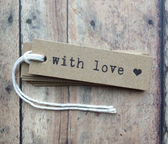 Rustic and simple wedding favor tags