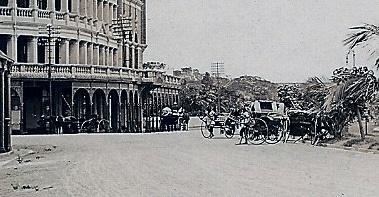 1915c Detail from Marine Hotel, Esplanade, Durban