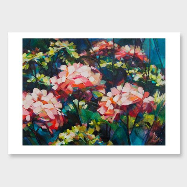Pink Hydrangeas Art Print by Jenni Stringleman