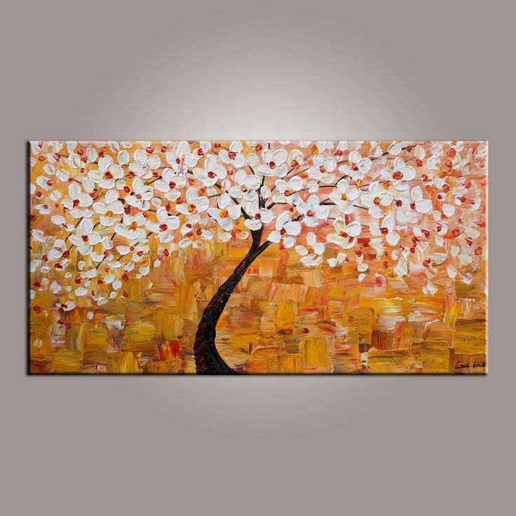 Art On Sale, Flower Tree Painting, Abstract Art Painting, Dining Room Wall  Art