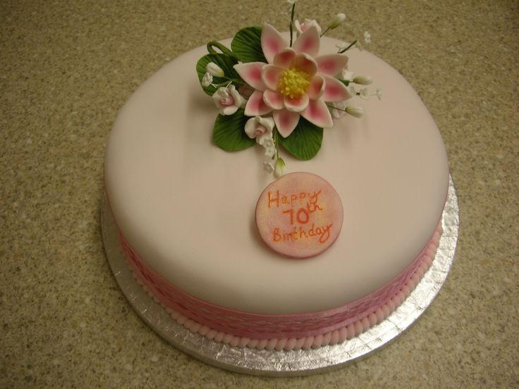 Water lily Birthday Cake  Cakes by Wendy Black (Otherwise known as A ...