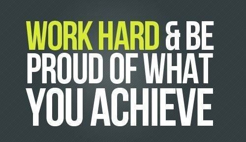 Remember To Work Hard ! !