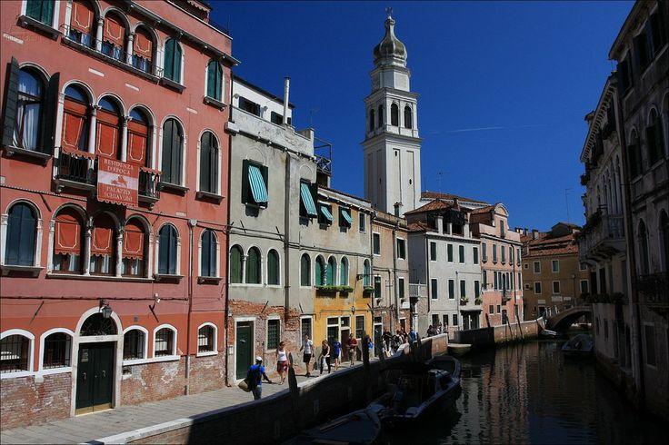 Rio de Sant'Antonin with Palazzo Schiavoni and Sant'Antonin belltower - Castello sestiere - Venezia - Veneto - Italy