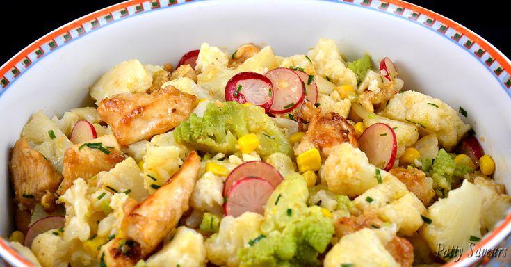Une délicieuse salade, bien relevée, un plat complet, sain et basses calories