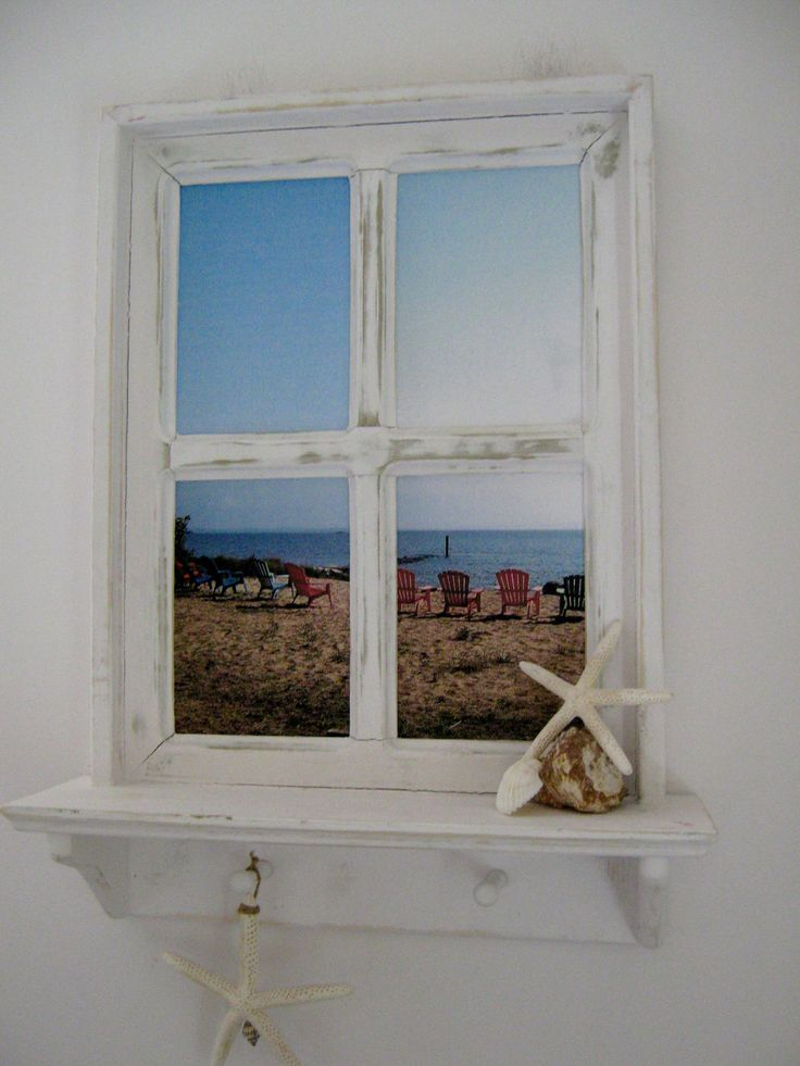 Baños Estilo Nautico:Beach Window Picture Frame Decor
