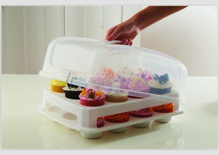 Aliexpress.com: Comprar 24 de la magdalena y cake carrier de un portador c partes fiable proveedores en Cake Stencil's Store