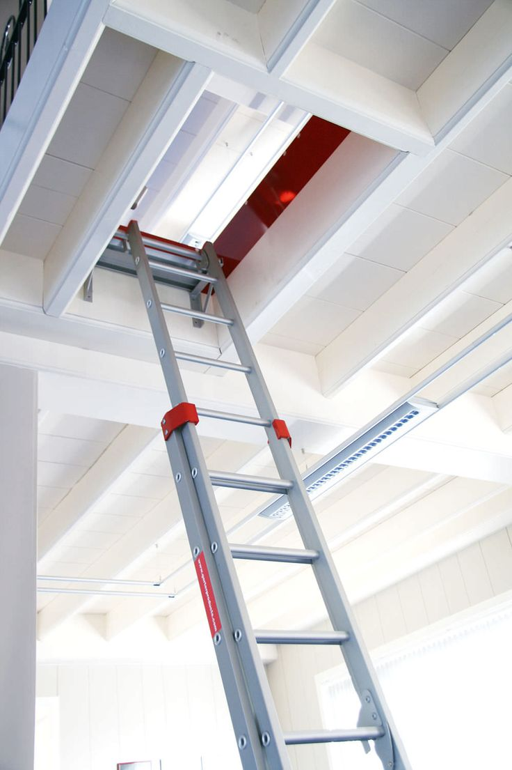 Loft access stairs and ladders san francisco by royo architects - Metal Hatch Roof Square With Ladder Hatch Rht Ladder El Ol