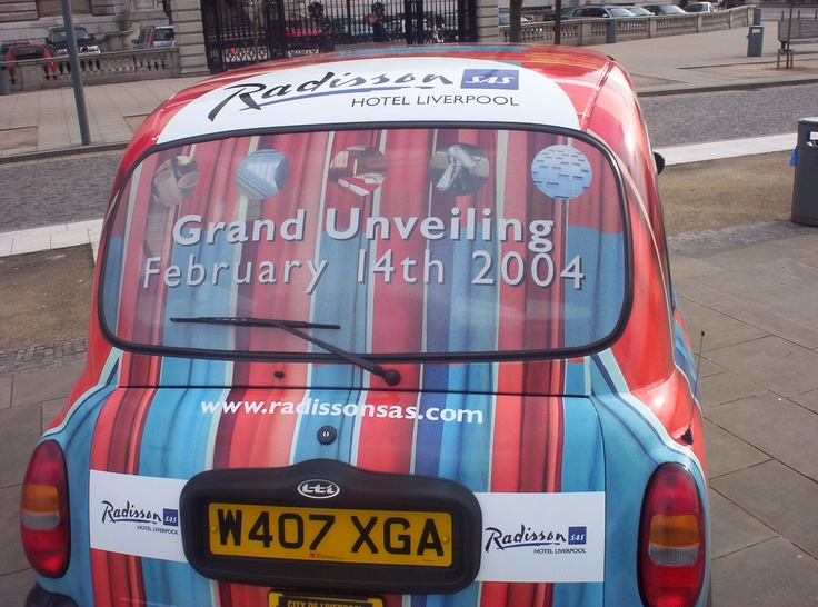 February 2004 saw London Taxi Advertising introduce the Rear Window Advertising Format to the taxi advertising industry for #Radisson Hotels