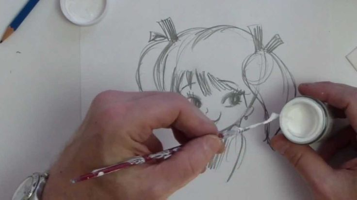 How To Draw Girl With Eye Shines