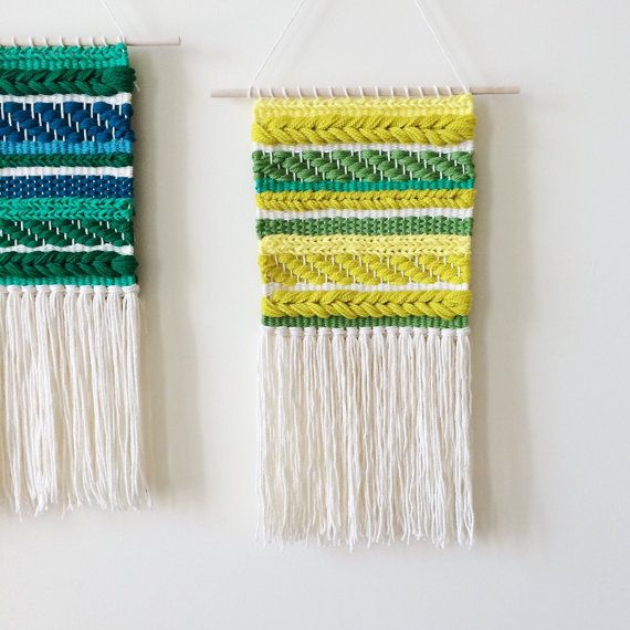 This is a hand woven wall hanging in a palette of rich yellows and greens. The dowel is 12 inches wide, and the weaving itself measures 9x16 inches.  It makes a beautiful gift for Valentines Day, a housewarming, birthday, or wedding.   This weaving is made to order (1-2 weeks), and comes with the dowel, ready to hang. Made by hand on a frame loom.   Please contact me with any questions or custom requests.