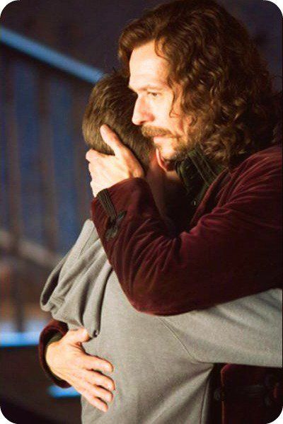 """Sirius-Harry: """"You're not a bad person. You're a very good person, who bad things have happened to. Besides, the world isn't split into good people and Death Eaters. We've all got both light and dark inside us. What matters is the part we choose to act on. That's who we really are."""" <3"""