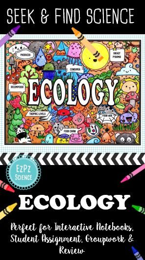 Students will enjoy learning about Ecology with Seek & Find Science Doodles. Ecology key terms include Producer, Consumer, Decomposer, Food Chain, Food Web, Trophic Levels and Energy Pyramid. Great for student engagement and retention. I love using these for ISN unit title pages!