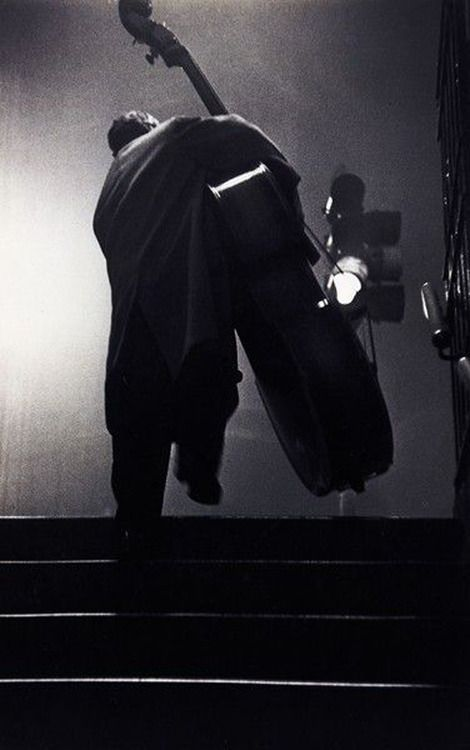 Charles Mingus, London, 1951. Photo by Robert Frank.