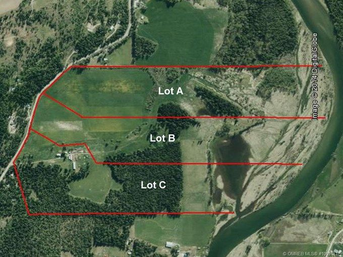 for Sale - 1042ABC Mabel Lake RD, Enderby, BC V0E 1V5 - MLS® ID 10091817.  This is a wonderful 299 acre Riverfront farm land with irrigation rights from the river. It's flat land with a mixture of irrigated hay land, and treed areas that are ideally suited to a cattle or horse farm. The house is a spacious 2 story, 5 bedroom home with a full basement.