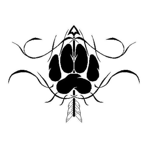 Wolf Paw Tattoo by TalentWasted ❤ liked on Polyvore featuring accessories and body art
