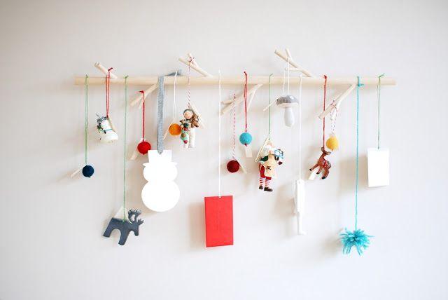 sugar lander: modern branch advent calendar (a DIY!)