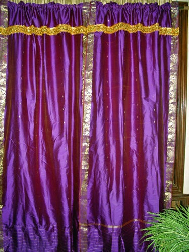 17 Best Images About Indian Silk Sari Curtain On Pinterest