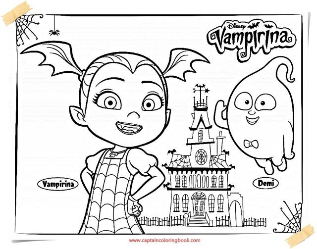 25 Marvelous Photo Of Vampirina Coloring Pages Halloween