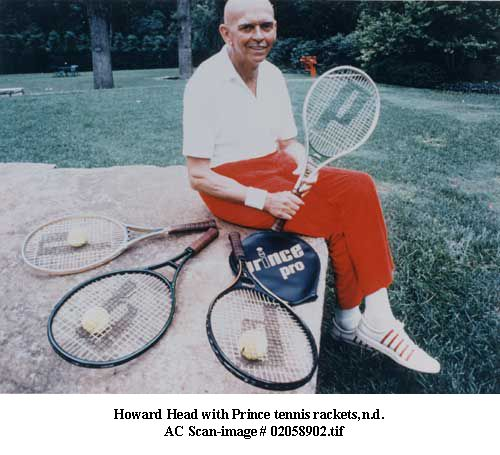 Howard Head, the inventor of the #Prince #Racquet . Funny, the surname is #HEAD