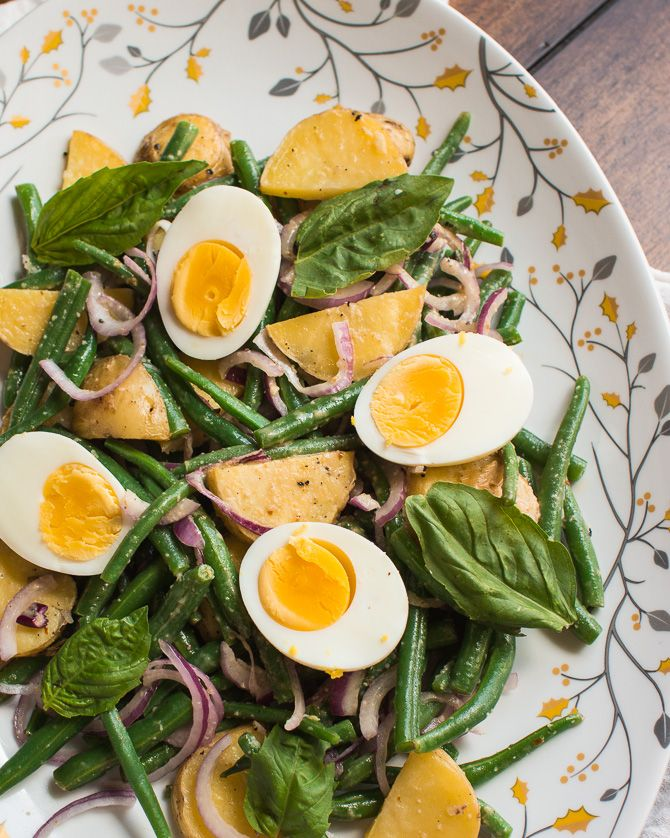 , Potatoes Salad, Potato Salad, Lemon Anchovy, Dressings, Green Beans ...