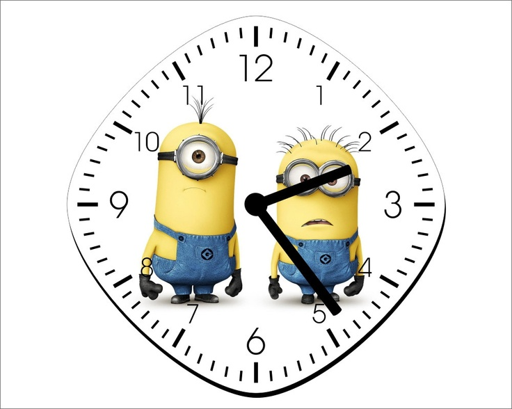 Minions Wall Clock - Home Decor - Room Decoration Gift. $13.99, via Etsy.