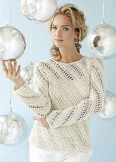 Suéter juvenil tejido al crochet / moldes y patrones   Crochet y Dos agujas