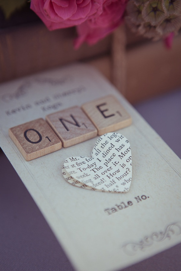 Such a cute table number idea for wedding receptions!   Photography by erichchen.com
