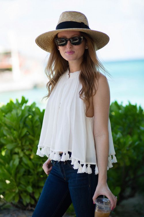 OUTFIT: TASSEL TOP IN ST. BARTH'S