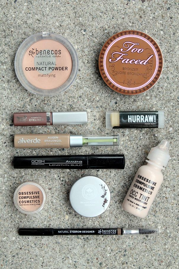 My vegan make up essentials for travelling! ONCE UPON A CREAM | Vegan Beauty Blog