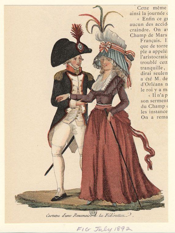 Costume d'une rouanaise a la Fédération.