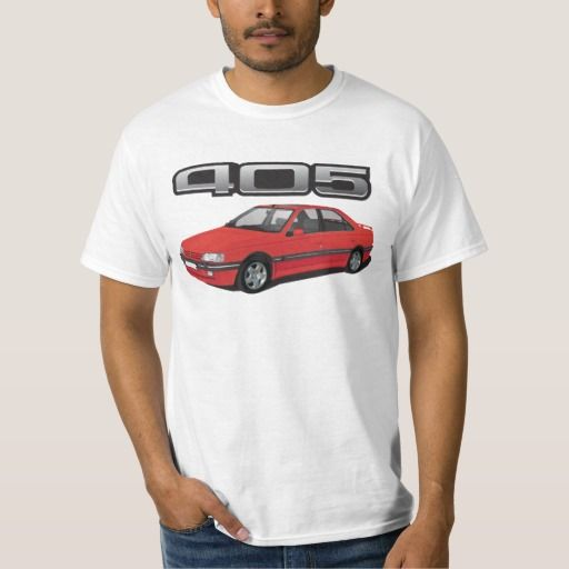 Peugeot 405 with wing, red, DIY  #peugeot #peugeot405 #automobile, #car #t-shirt, #print #europe #france #mi16 #405mi16  #white