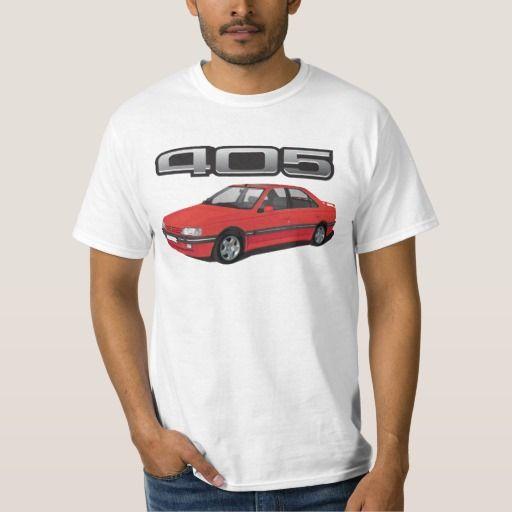 Peugeot 405 with wing, red, DIY  #peugeot #peugeot405 #automobile, #car #t-shirt, #print #europe #france #mi16 #405mi16  #white