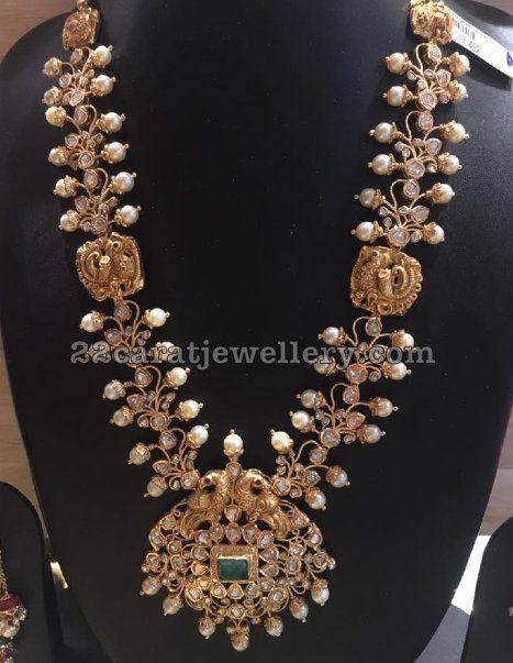 Uncut Diamond Long Set by Bhavani Jewellers - Jewellery Designs