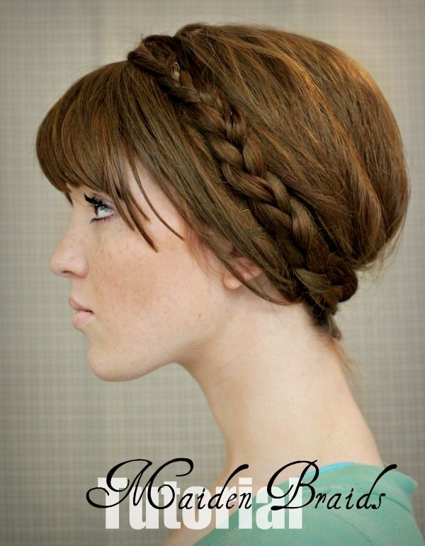 Maiden Braid updo tutorial. Cute! I just wish I had long enough hair for it.