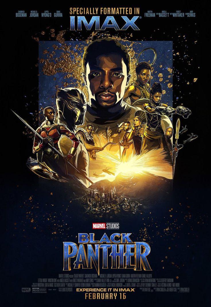 """Cinemito no Twitter: """"Poster IMAX do Pantera Negra. O filme estreia dia 15 de fevereiro no Brasil. #PanteraNegra… """" ."""
