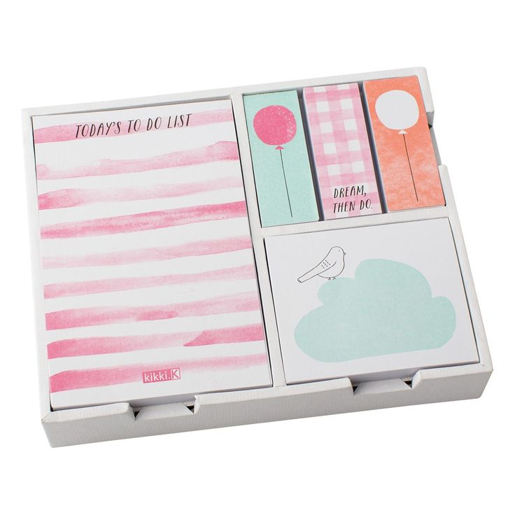 Note down your daily To Do List and stick into your Diary, Notepad or computer screen with this gorgeous Adhesive Note Set.