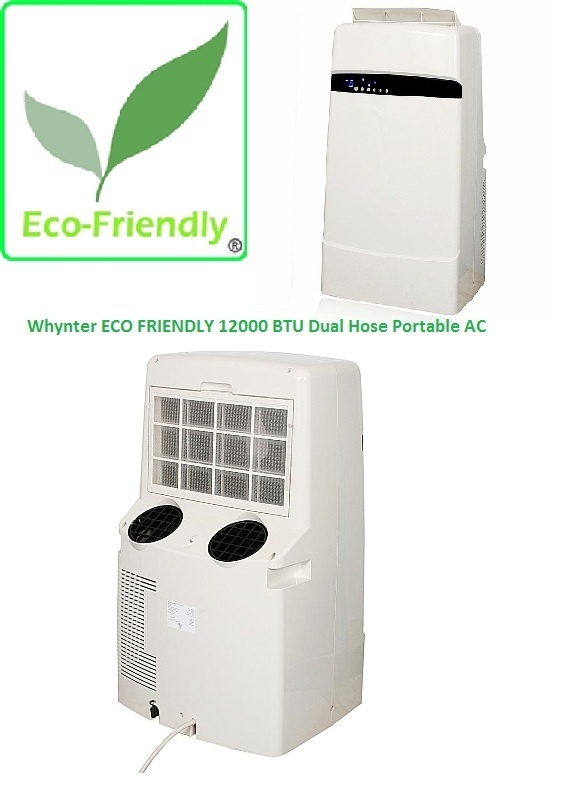 Whynter ECO FRIENDLY 12000 BTU Dual Hose Portable AC   Vista Stores