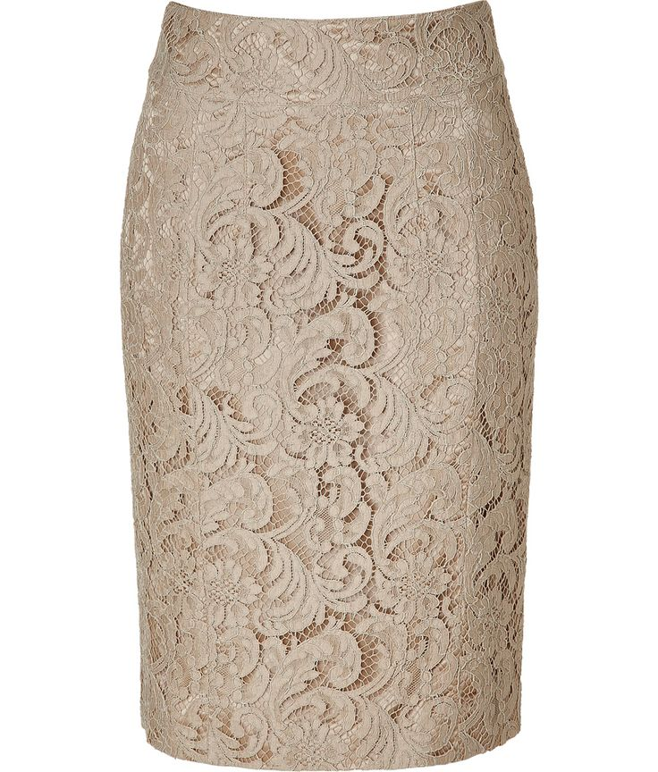 Burberry London Nude Lace Skirt.  Lace is soooo pretty!Lace Skirt
