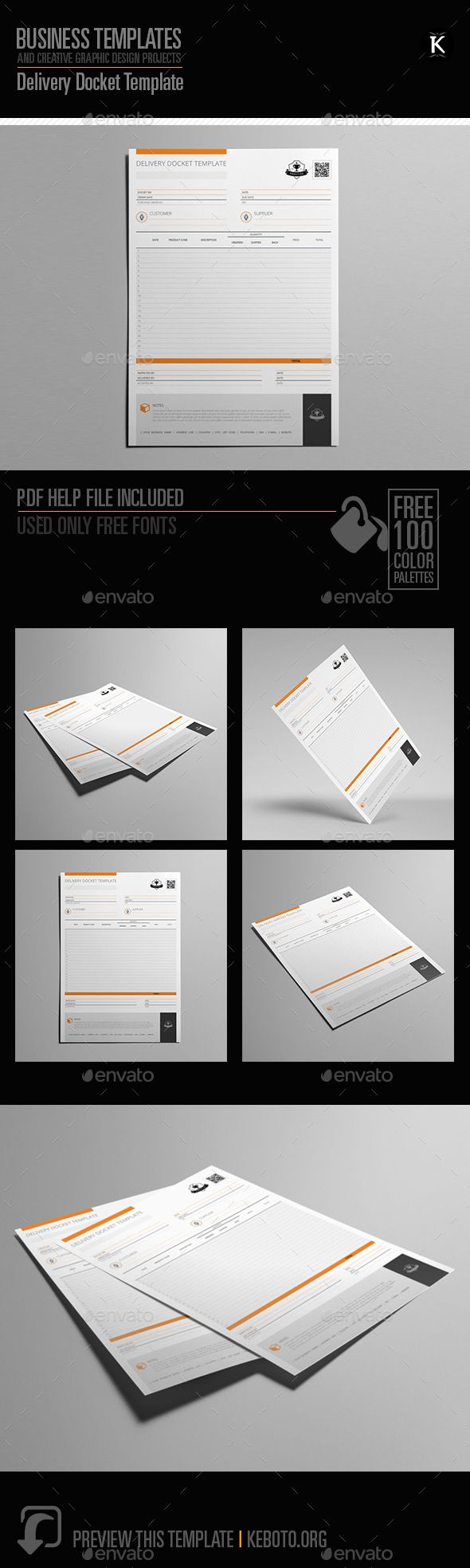 Delivery Docket #Template - #Miscellaneous Print #Templates Download here:   https://graphicriver.net/item/delivery-docket-template/20288654?ref=alena994