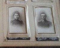 Afb. 2: foto's van een echtpaar in een carte de visitealbum / Bron: © Collectie Infoteur