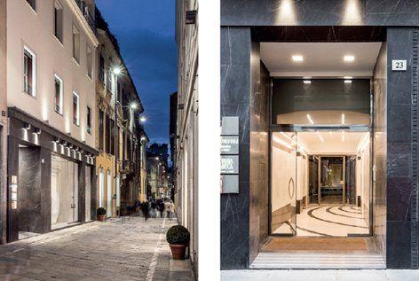 Al centro del Quadrilatero della moda di Milano — famoso
