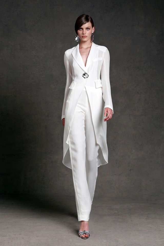 White Pant Suits For Women Wedding Delicious Party Dresses Donna Karan Resort 2017