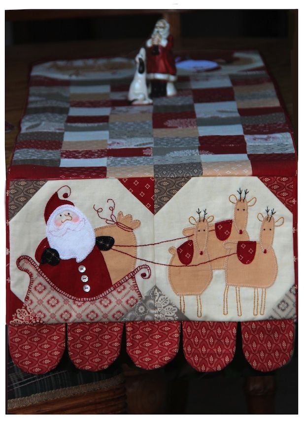 Jingle Table Runner / I don't normally do Santa for Christmas but I could be persuaded to do this. SO CUTE!!!