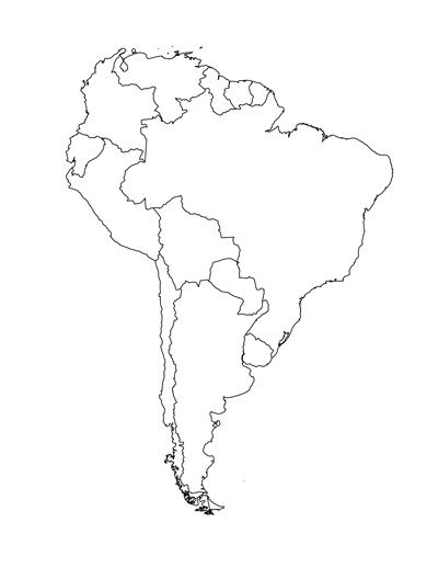 Spanish Speaking Countries And Their Capitals South America And - Empty us map printable