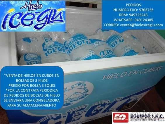 REPARTO DE HIELO ICE GLU *VENTA DE HIELOS EN CUBOS EN BOLSAS DE 3 KI .. http://lima-city.evisos.com.pe/reparto-de-hielo-ice-glu-id-638495